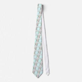 Pink Roses Victorian Style Design Necktie Tie