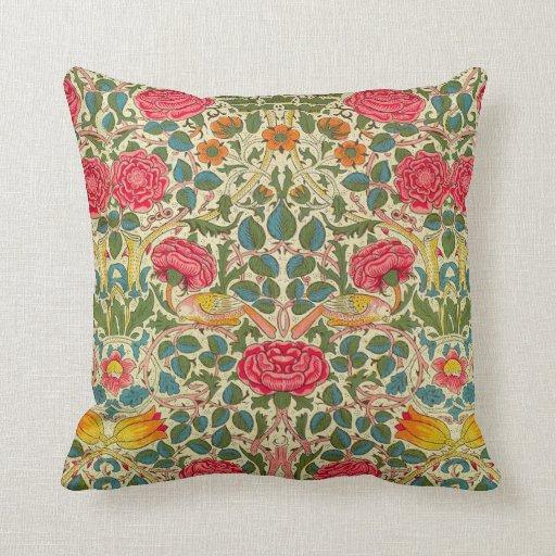 Pink Roses Vintage Chintz Pattern Throw Pillow Zazzle