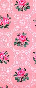 Pink Roses Vintage Wallpaper Flip Flops