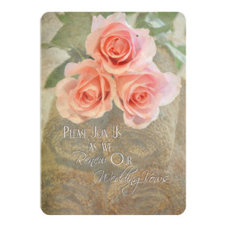 Pink Roses Vow Renewal Card