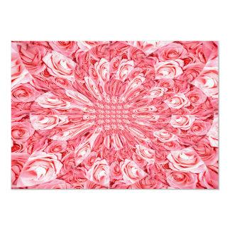 "Pink Roses ""Warp"" #5 5x7 Paper Invitation Card"