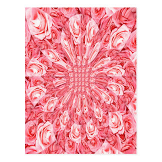 "Pink Roses ""Warp"" #5 Postcard"