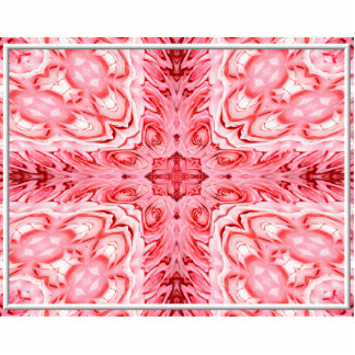 """Pink Roses """"Warp"""" Acrylic Cut Outs"""