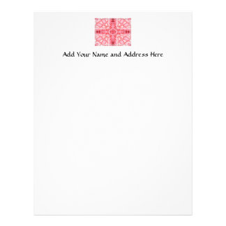 "Pink Roses ""Warp"" Letterhead Template"