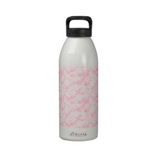 Pink Roses Water Bottles