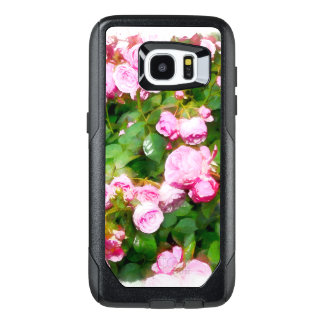 Pink Roses Watercolor OtterBox Samsung Galaxy S7 Edge Case