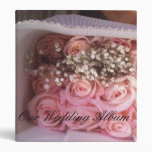 Pink Roses Wedding Album Binders