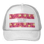 Pink roses wedding favors trucker hat