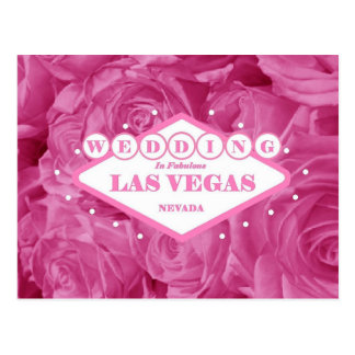 Pink Roses Wedding in Las Vegas Postcard