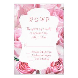 Pink Roses Wedding RSVP Cards