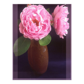 Pink Roses With Border Letterhead