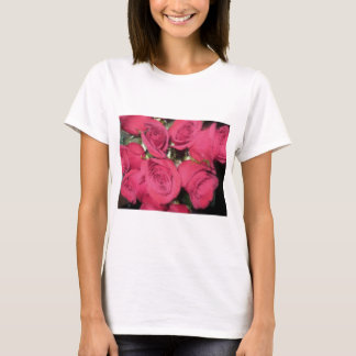 Pink Roses with dry brush II.jpg T-Shirt