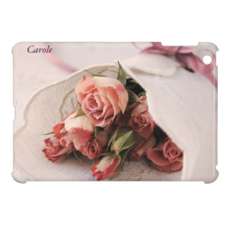pink roses with linens iPad Mini Savvy case iPad Mini Cover