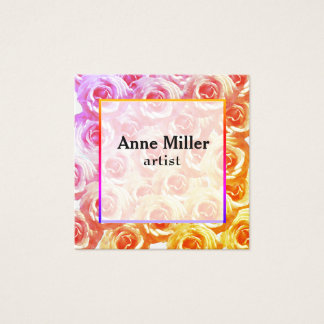 Pink RosesFloral Business Card