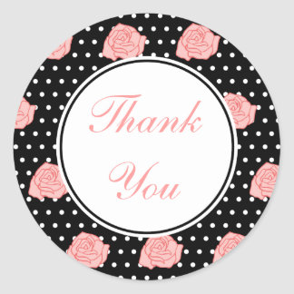 Pink RoseThank You Stickers