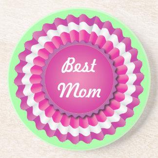 Pink Rosette Sandstone Coaster