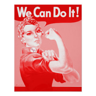 "Pink Rosie the Riveter ""We Can Do It!"" Poster"
