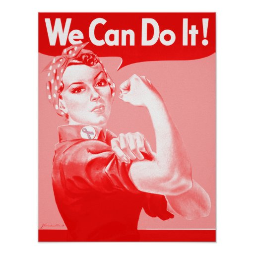 """Pink Rosie the Riveter """"We Can Do It!"""" Poster"""