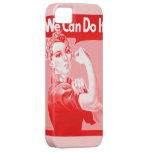 "Pink Rosie the Riveter ""We Can Do It!"" Poster iPhone 5 Cover"