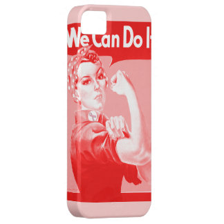 """Pink Rosie the Riveter """"We Can Do It!"""" Poster iPhone SE/5/5s Case"""