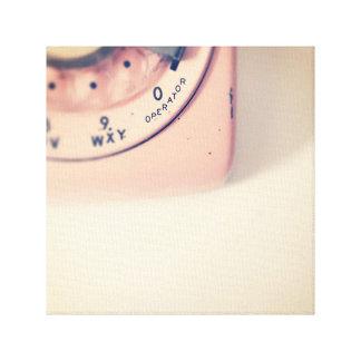 Pink Rotary Telephone Canvas Print