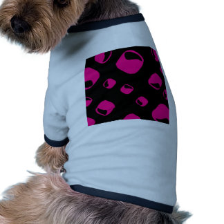 Pink rounded rectangle background dog t-shirt