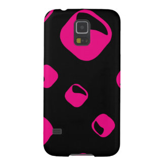 Pink rounded rectangle background galaxy s5 cover