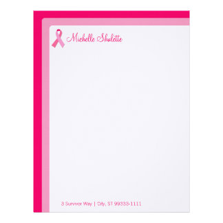 Pink Rounded Retro Letterhead