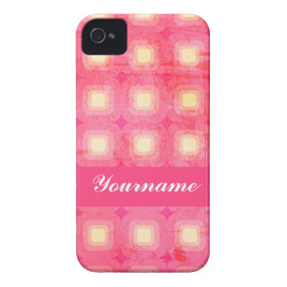 Pink Rounded Squares iPhone 4 Cover