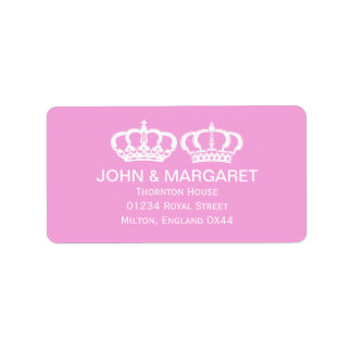Pink Royal Couple Wedding Personalized Address Label