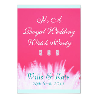 Pink Royal Wedding Watch Party Invitation