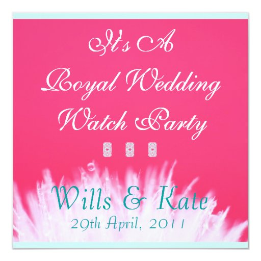 Pink Royal Wedding Watch Party Invitation (Square)