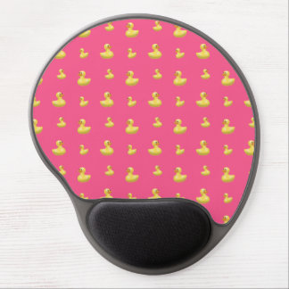 Pink rubber duck pattern gel mouse pad