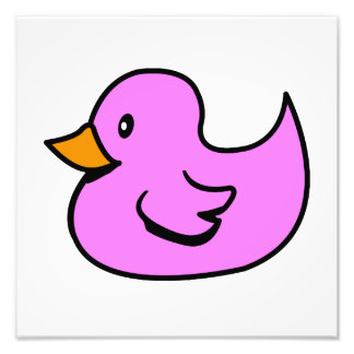Pink Rubber Duck Photo Print