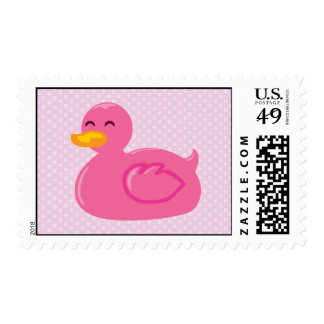 Pink Rubber Ducky Postage Stamps