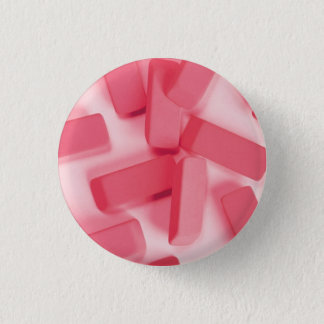 Pink Rubber Erasers Button