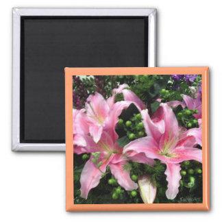 Pink Rubrum Lilies Magnet