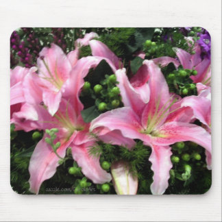 Pink Rubrum Lilies Mouse Pad