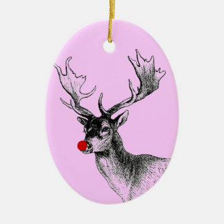 Pink Rudolph Ornament