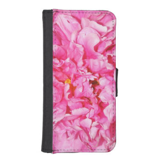 Pink Ruffled Peony Petals iPhone 5 Wallet Case