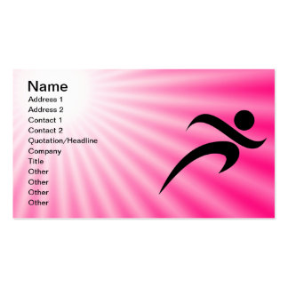 Pink Running Double-Sided Standard Business Cards (Pack Of 100)
