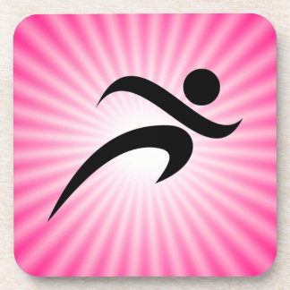 Pink Running Drink Coaster