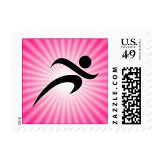 Pink Running Stamp
