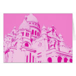 Pink Sacre Coeur 1 Stationery Note Card