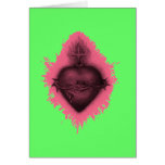 Pink Sacred Heart Greeting Cards