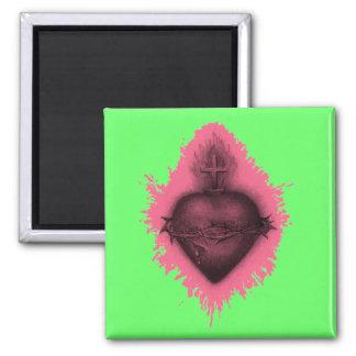 Pink Sacred Heart Magnet