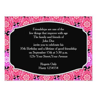 Pink Sacred Lotus Birthday Party Invitation