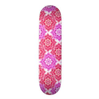 Pink Sacred Lotus Blossoms Asian Skate Board Deck