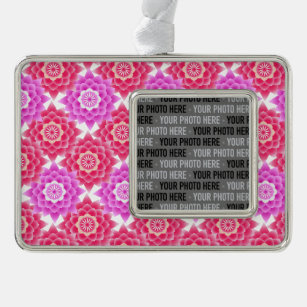 Pink Sacred Lotus Blossoms Oriental Christmas Ornament