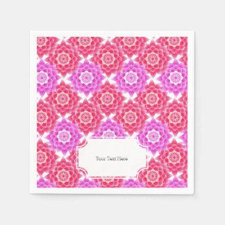 Pink Sacred Lotus Blossoms Oriental Napkin